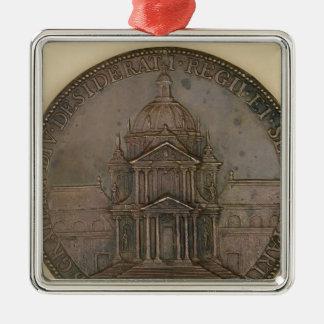 Medalla de la fundación de la Val-de-Tolerancia Adorno Navideño Cuadrado De Metal