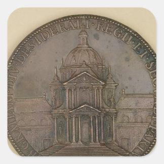 Medalla de la fundación de la Val-de-Tolerancia Pegatina Cuadrada