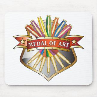 Medalla de la medalla del arte alfombrilla de raton
