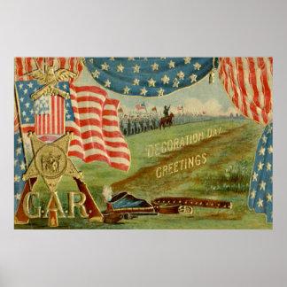 Medalla de la unión de la guerra civil de la bande poster