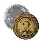 Medalla de Lincoln - botón Pin Redondo De 1 Pulgada