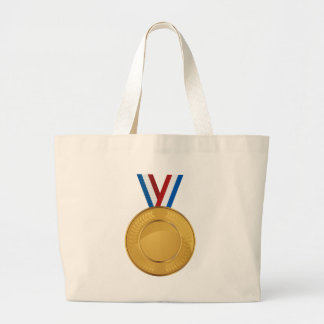 Medalla de oro bolsa tela grande