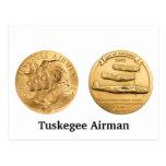 Medalla de oro de los aviadores de Tuskegee Tarjetas Postales