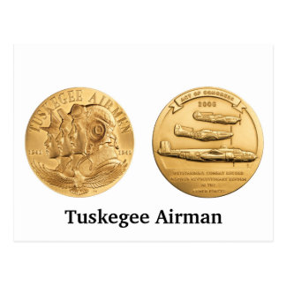 Medalla de oro de los aviadores de Tuskegee Tarjeta Postal