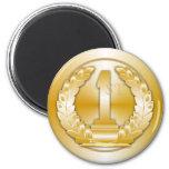 Medalla de oro imán de frigorífico