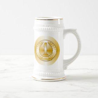Medalla de oro, jarra de cerveza