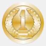 Medalla de oro pegatina