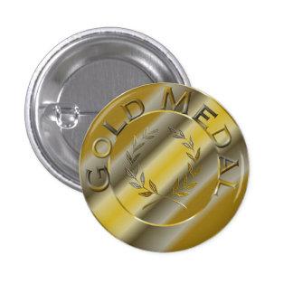 Medalla de oro pin redondo de 1 pulgada