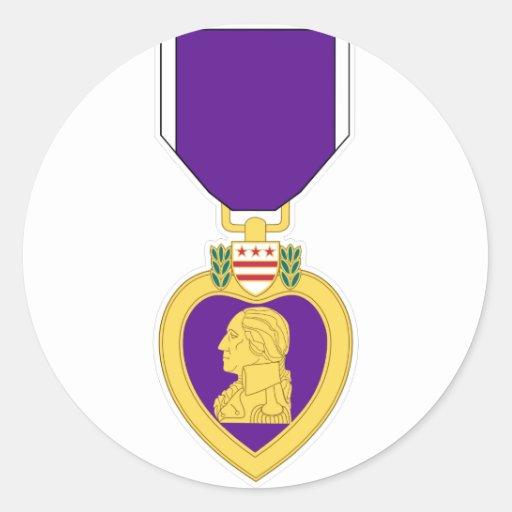 Medalla de Purple Heart Pegatina Redonda