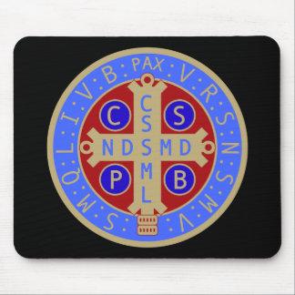 Medalla de St. Benedicto Mousepad Alfombrilla De Raton
