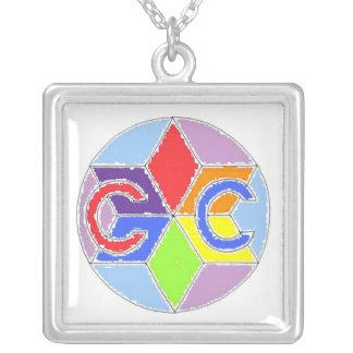 Medalla del Club de los Primos Colgante Cuadrado