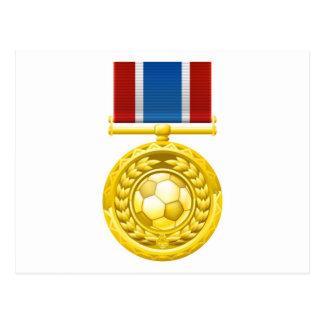 Medalla del fútbol del fútbol postal