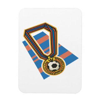 Medalla del fútbol rectangle magnet