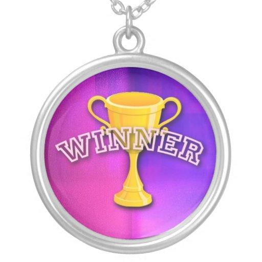 Medalla del ganador colgante redondo