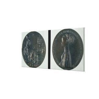 Medalla del retrato, Cecilia de representación anv Lona Envuelta Para Galerías