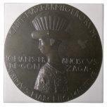 Medalla del retrato que representa Gianfrancesco G Azulejos Ceramicos