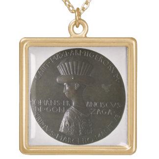 Medalla del retrato que representa Gianfrancesco G Colgante Cuadrado