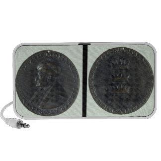 Medalla del retrato, sultán de representación anve altavoces de viaje