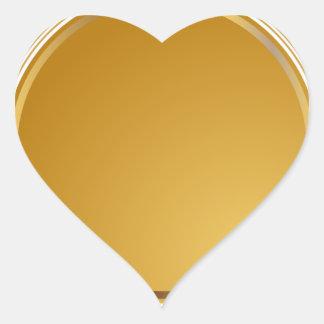 Medalla del sello de la estrella del oro pegatina en forma de corazón
