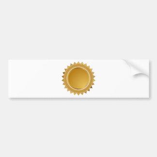 Medalla del sello de la estrella del oro pegatina para auto