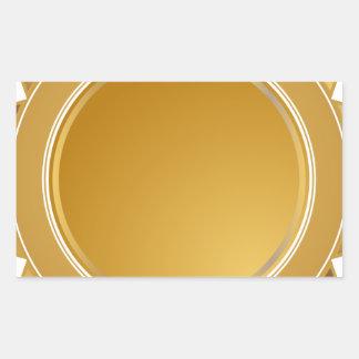 Medalla del sello de la estrella del oro pegatina rectangular