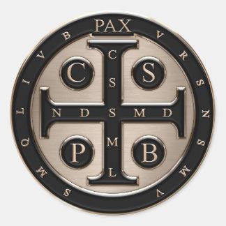 Medalla del St. Benedicto Etiquetas Redondas