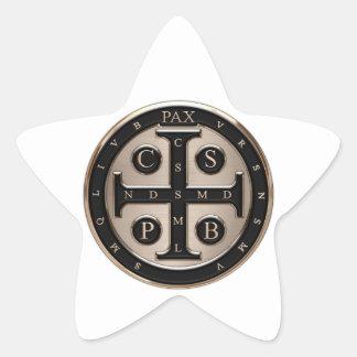 Medalla del St. Benedicto Colcomanias Forma De Estrellas