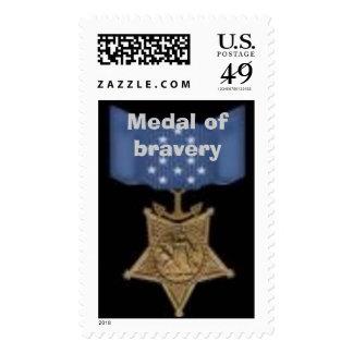 medalla del valor sellos