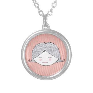 Medalla Dinero y guisante para niña Colgante Redondo