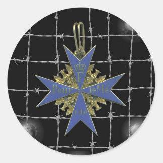 Medalla german Pour Le Merit Pegatina Redonda