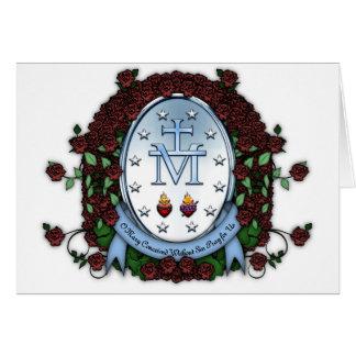 Medalla milagrosa 2 tarjeta de felicitación