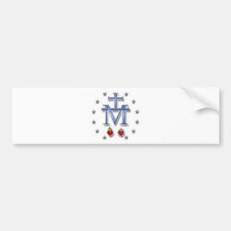 Medalla milagrosa etiqueta de parachoque