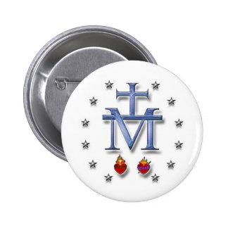 Medalla milagrosa pin redondo de 2 pulgadas