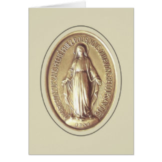 Medalla milagrosa tarjeta pequeña