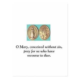 Medalla milagrosa postal