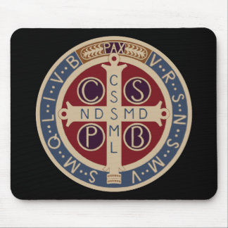 Medalla Mousepad del St. Benedicto Tapete De Ratón