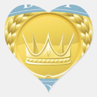 Medalla o insignia del premio pegatina en forma de corazón