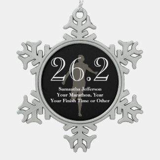 Medalla personalizada del recuerdo del corredor de adorno de peltre en forma de copo de nieve