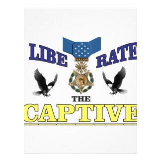 medalla prisionera azul amarilla plantilla de membrete