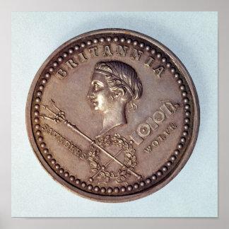 Medalla que conmemora la captura británica de póster