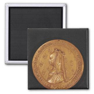 Medalla que representa a Anne de Bretaña Imán Cuadrado