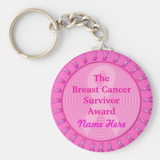 Medalla rosada adaptable del premio del cáncer de llavero redondo tipo pin