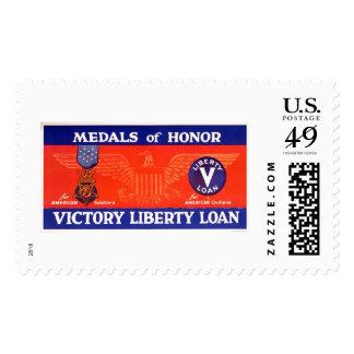 Medallas de honor - préstamo de la libertad de la sellos