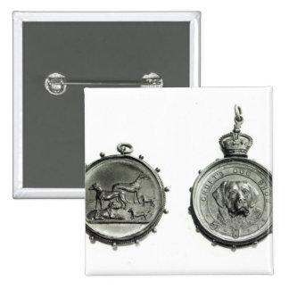 Medallas de la exposición canina de Cruft, c.1910 Pin Cuadrada 5 Cm