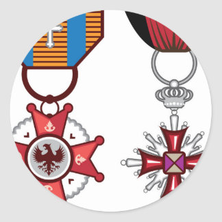 Medallas militares/órdenes del vector falso pegatina redonda