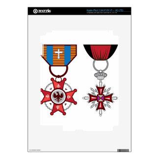 Medallas militares/órdenes del vector falso pegatinas skins para iPad 3
