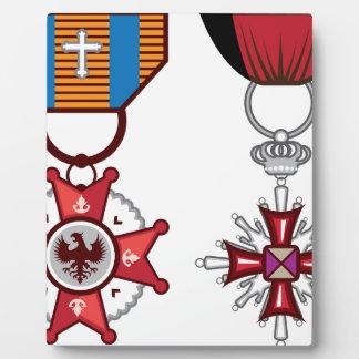 Medallas militares/órdenes del vector falso placas de plastico