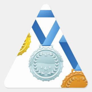 Medallas Colcomanias Trianguladas Personalizadas