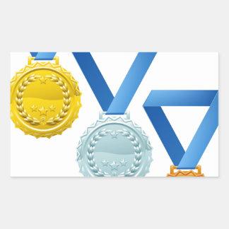 Medallas Rectangular Pegatina