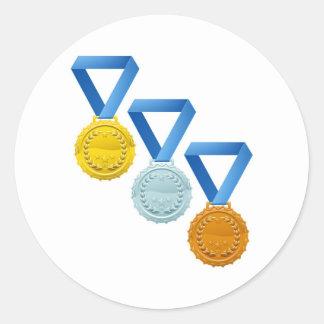 Medallas Pegatinas Redondas